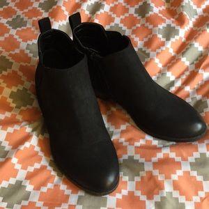 Merona black ankle boots 7